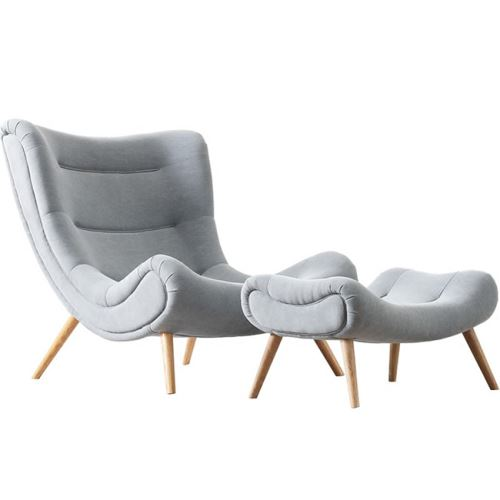 Modern design lazy chair fabric living room chair
