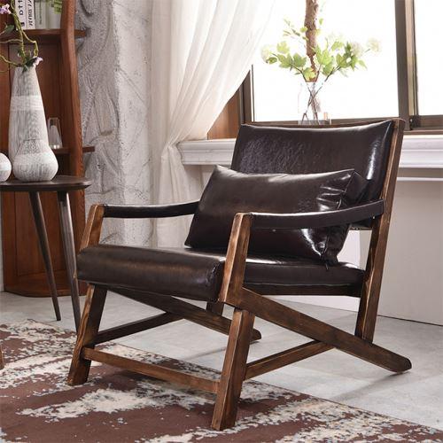Popular design leather leisure sofa chair single seat Livingroom set