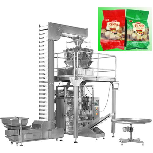 Automatic Wafer Biscuit Chocolate Bar Stick Food Weighing Packing Machine