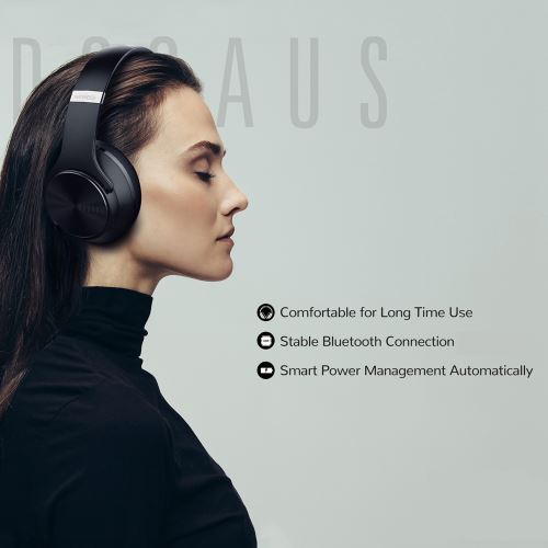 DOQAUS Flip Speaker Headphone Wholesale OEM Over Ear Sport Mobile Bluetooth Wireless Headphone