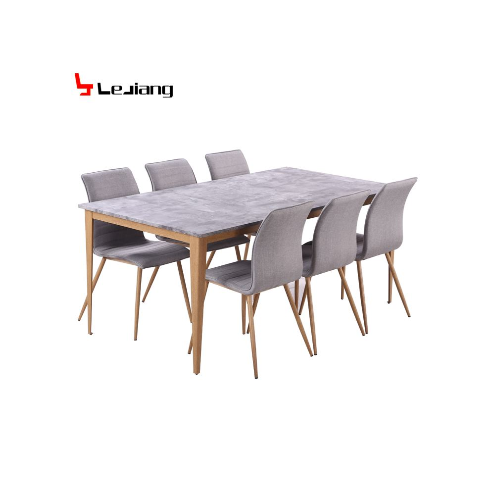 Home Dining Room Furniture 6 Person Dining Table and Chair